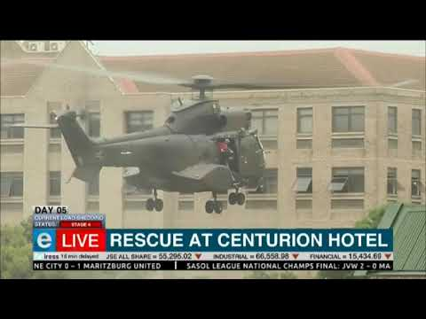 Rescue operations are underway at the Centurion Hotel