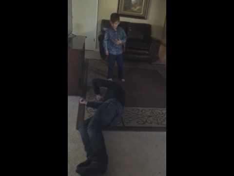 Sebastian faking death by Elias