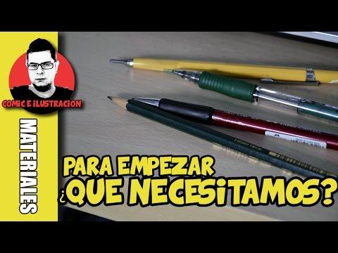 COMO EMPEZAR A DIBUJAR COMICS    Materiales para dibujar