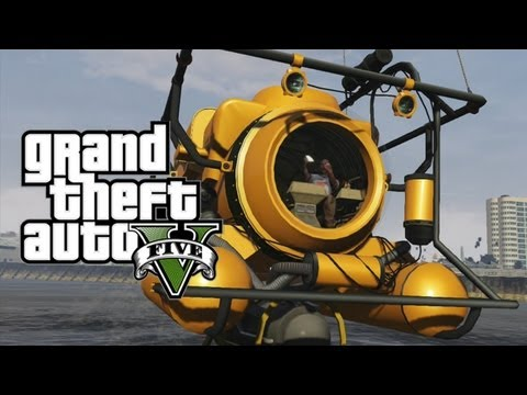 Grand Theft Auto 5 - Submarine - Sonar Collector Dock Property - Scuba Diving/Submarine Gameplay