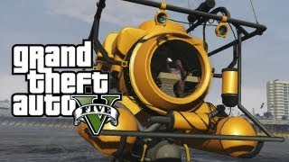 Grand Theft Auto 5 - Submarine - Sonar Collector Dock Property - Scuba Diving/Submarine Gameplay