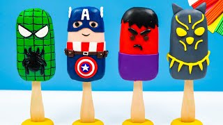Ice Cream mod Superheroes Marvel with clay 🧟 Hulk, Captain America, Spiderman, Black Panther #2