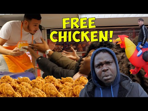 Roadman MrBeast Opens Up a FREE Chicken Shop In The Hood