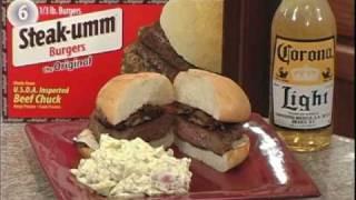 Mushroom-onion Steak-umm Burgers