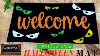 Dollar Tree DIY Halloween Mat | Easy & Affordable Halloween DIY Decor | 2018