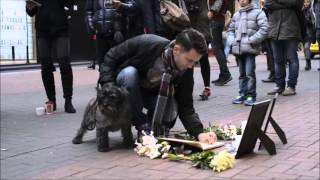 Touching Memorial for a Rabbit Appears Outside a Shop That Sells Fur