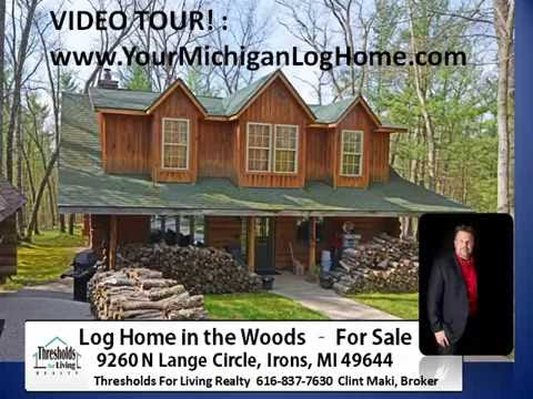Michigan Log Home for Sale: 9260 N Lang Circle LOG Home on land