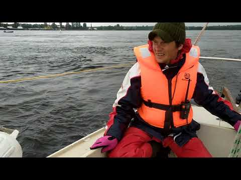 Прохождение Ивановских порогов на Неве, на яхте под мотором