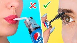10 Seltsame Make-Up Ideen / Lustige Streiche!