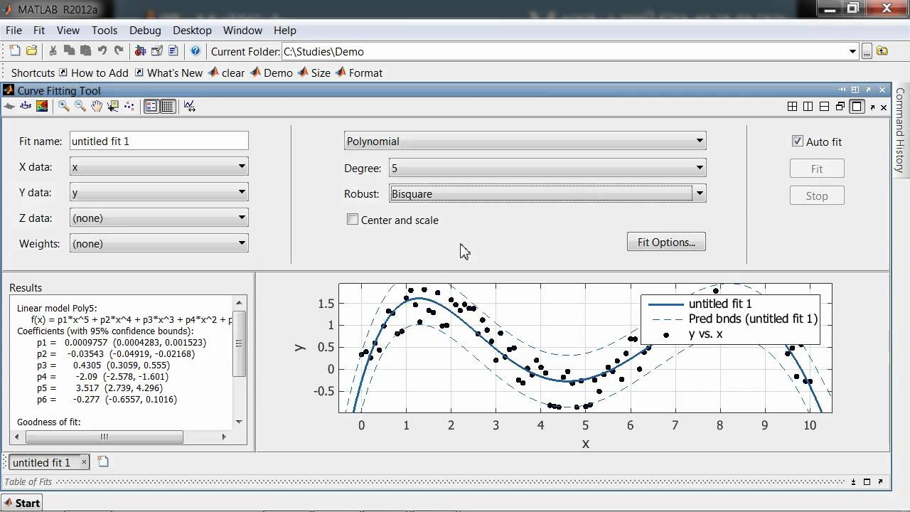 Curve Fitting Toolbox