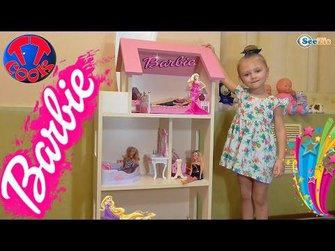Кукла Барби. Обзор игрушек от Ярославы. Подарок для куклы - Дом для Барби. Tiki Taki Cook