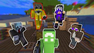 Minecraft Speedrunner VS 4 Hunters But One is a Healer