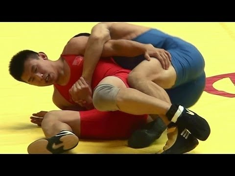 Freestyle Wrestling China 74kg -- Nice PIN!