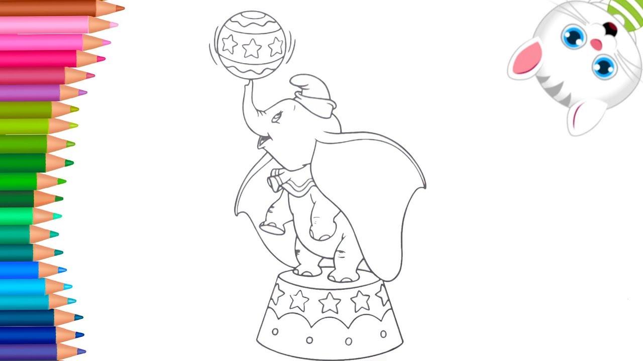 Dumbo Lelefante Volante Come Disegnare E Colorare Piccole Mani