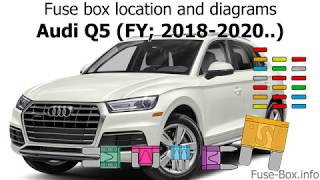 Fuse box location and diagrams: Audi Q5 (2018-2020..) - YouTube | Audi Q5 Fuse Box Diagram |  | YouTube