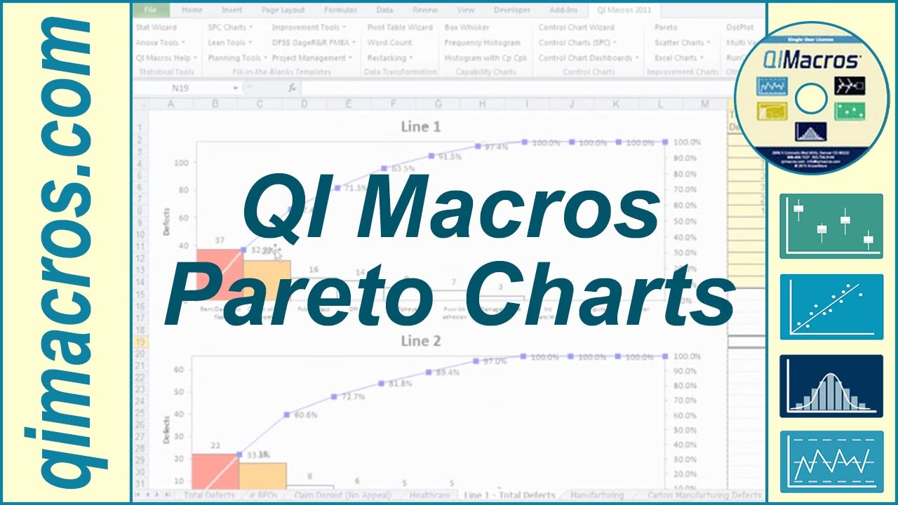 how to make a pareto graph in excel 2003