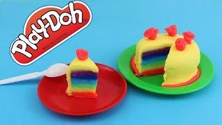 как сделать радужный торт для кукол