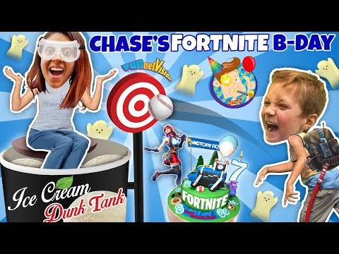 Chases 7th Birthday = Mommy Ice Cream Dunk Tank! (FUNnel Fam Vlog)