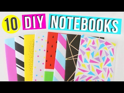 10 Easy DIY Notebooks For Back to school! | Easy DIY School Supplies! | Ellen Kelley