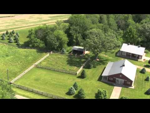 Illinois Land for Sale - Luxury Waterfront Cabin and Equestrian Setup on 75 Acres in Bureau County
