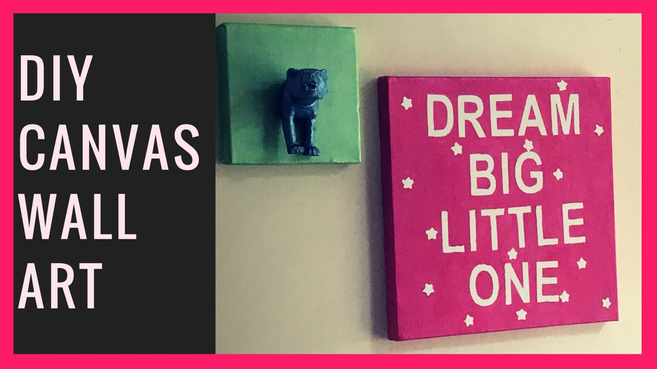 Canvas Wall Art Diy how to make diy canvas wall art - youtube