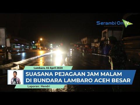 Suasana Penertiban Aturan Jam Malam Di Bundaran Lambaro Aceh Besar