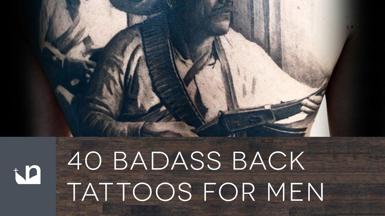 40 Badass Back Tattoos For Men – Masculine Design Ideas