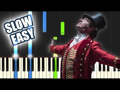 Come Alive - The Greatest Showman | SLOW EASY PIANO TUTORIAL by Betacustic