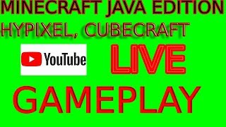 Minecraft - LIVE - Hypixel and CubeCraft Gameplay