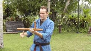 Tonfa Basics by Rick Tew Live-in NinjaGym Martial Arts and Fitness Camp Thailand