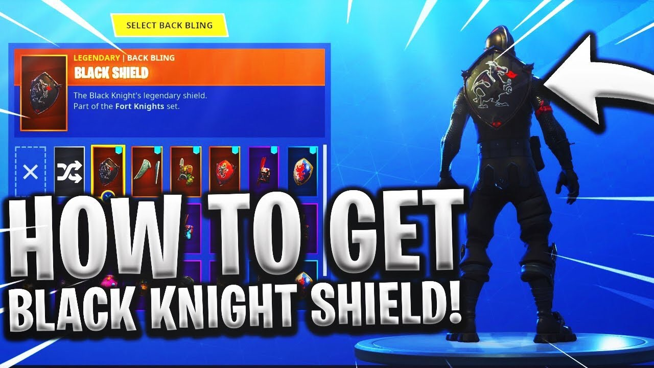 How To Get The Black Knight Shield For Free In Game Youtube