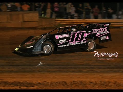 Michael Page 18x wins the Bama 50 Feature at Moulton Speedway with a ct525