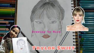Taylor Swift pencil draẁing | How to draw Taylor Swift | Art by Mira | @Taylor Swift