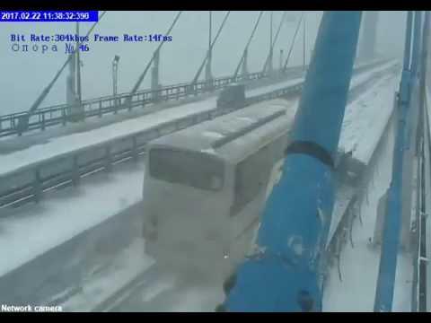 Мост на О.Русский ДТП Человеку дали второй шанс