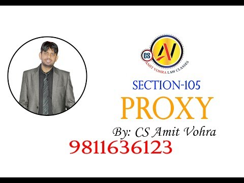 General Meeting-Proxy  (CA/CS/CMA)