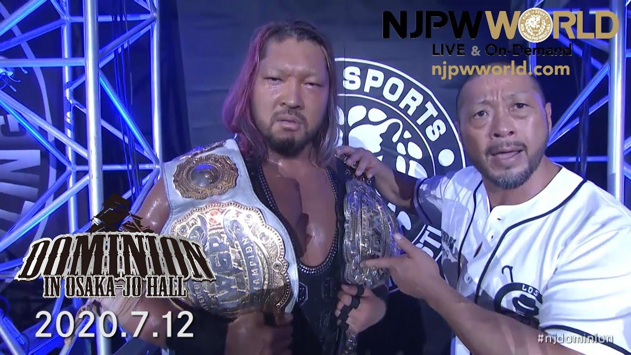 EVIL is double IWGP champ! Hiromu Takahashi demands more than answers! #njdominion