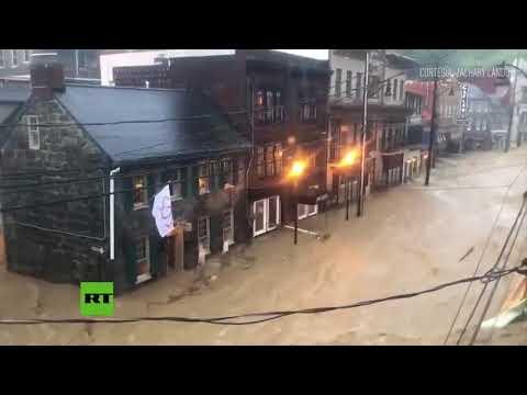 EE.UU.: Fuertes inundaciones en Maryland dejan carreteras y barrios sumergidos