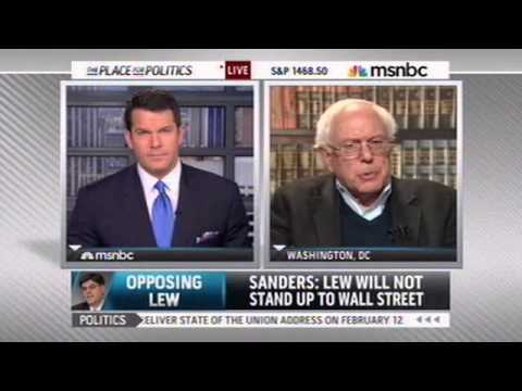Sanders Opposes Lew for Treasury Secretary