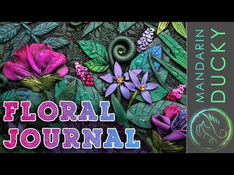 BEAUTIFUL JOURNAL TUTORIAL TIME LAPSE - Polymer clay journal by Mandarin Duck  ポリマークレイ ; 폴리머 클레이