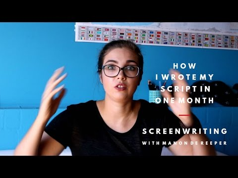 Screenwriting: How I Wrote My Script In ONE MONTH