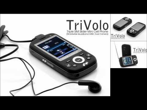 Triple SIM Slider Mini Cell Phone TriVolo - Cheap mobile phones