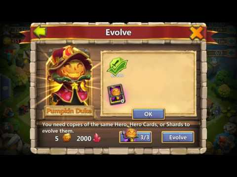 Castle Clash | Finally Double Evolving Pumpkin Duke