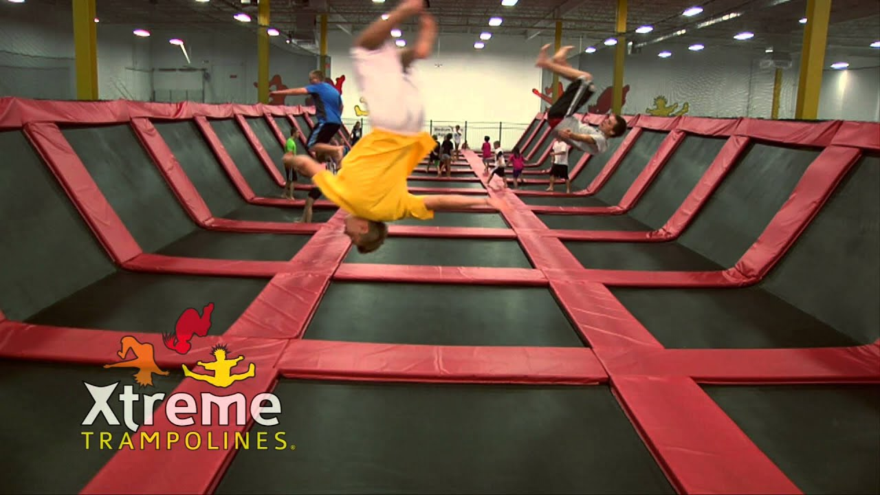 Xtreme Trampolines - New Teenage Basketball Foam Pit Dodgeball Commercial - YouTube