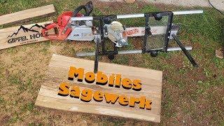 Gambar cover Sawmill Eigenbau: Bretter sägen mit Kettensäge und mobilen Sägewerk