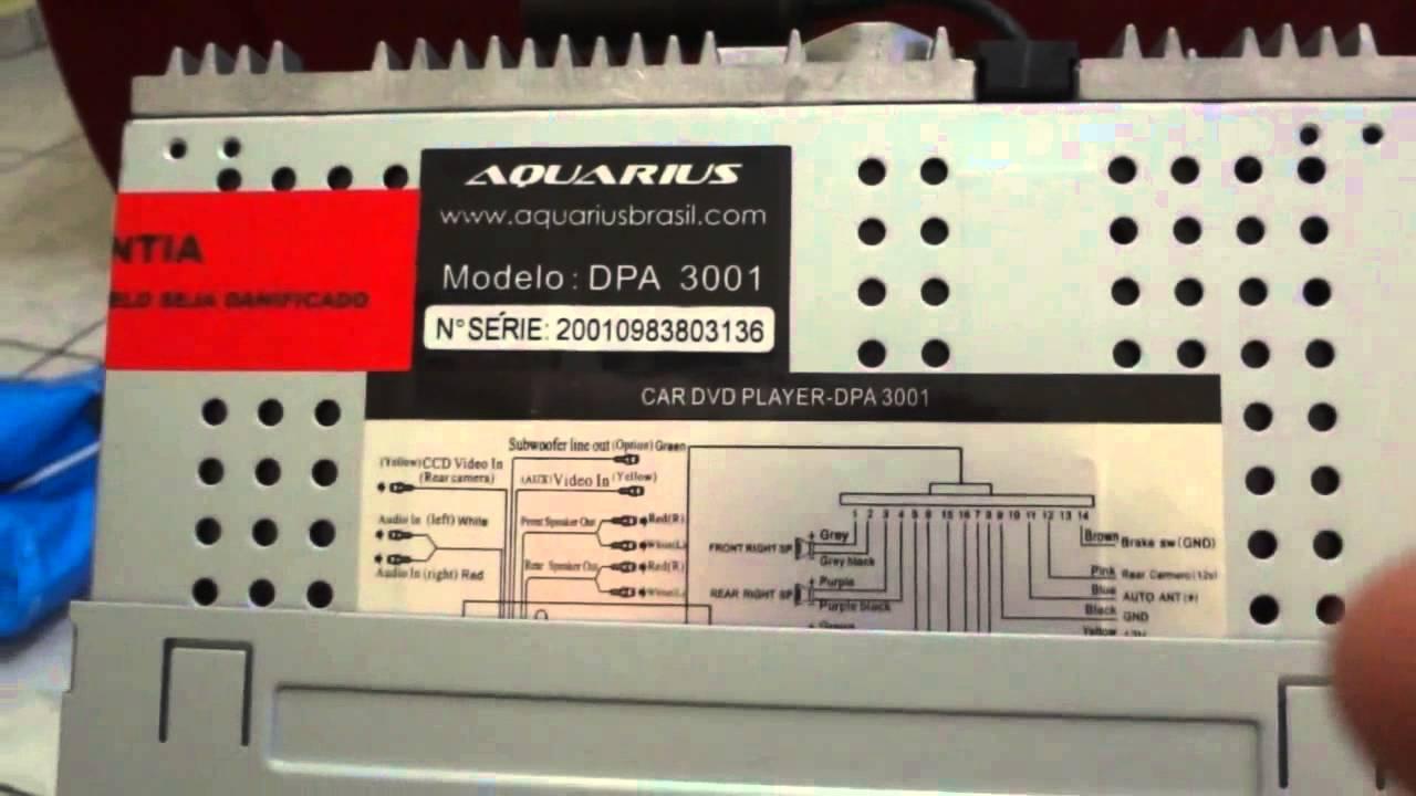 48a2efa57 DVD Player Automotivo Aquarius DPA 3001 7