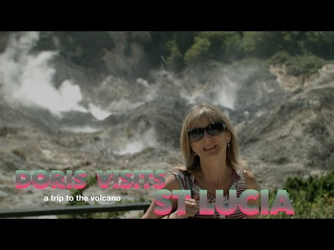 St Lucia, live drive in volcano. Jean for Doris Visits on Caribbean Cruise