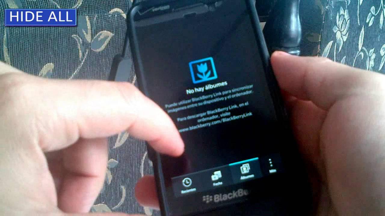 Como ver fotos ocultas en el blackberry