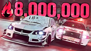 Need for Speed Heat - 8,000,000 REP IN ONE NIGHT! (18+ Evo)