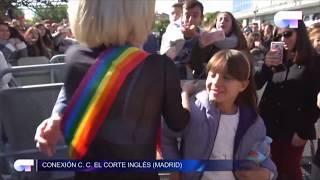 ALBA RECHE se ESCAPA para SALUDAR al PÚBLICO de las FIRMA de MADRID I OT 2018