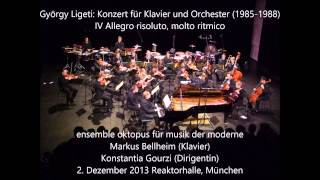György Ligeti: Concerto for Piano and Orchestra (1985-1988)